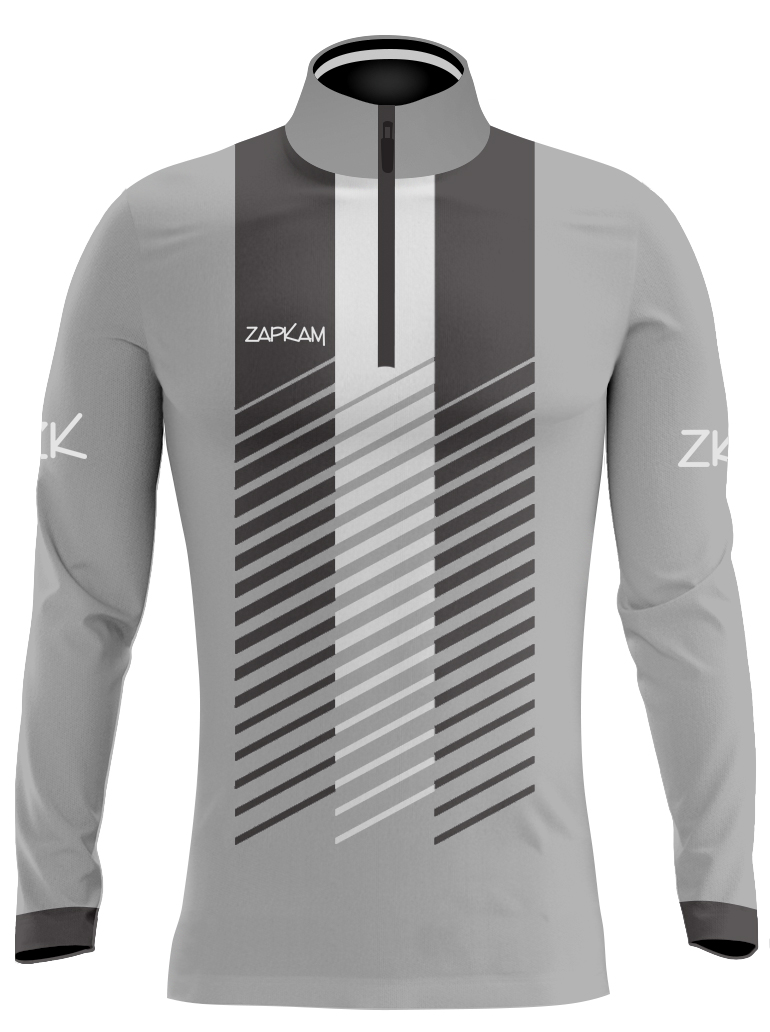 Striped Sublimated Quarter Zip Training Tops