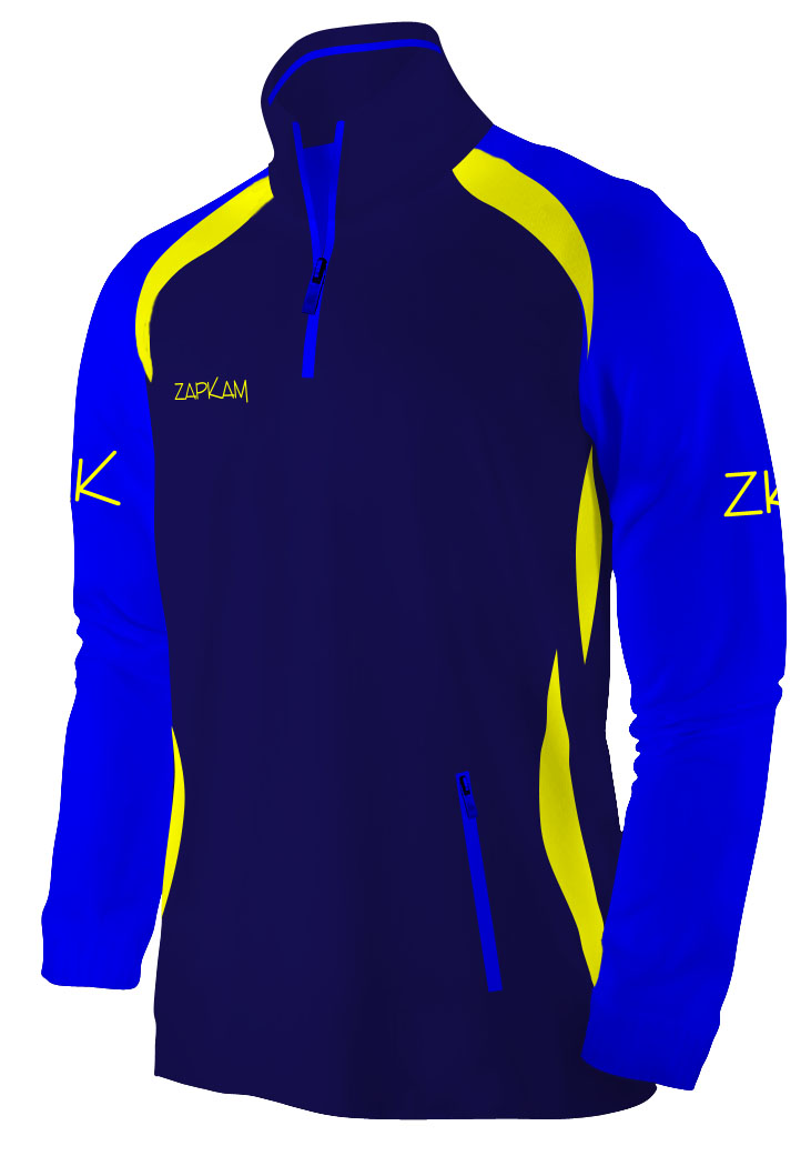 Style 45 Quarter Zip Polycotton Fleece Jacket.jpg