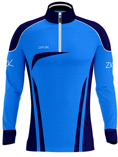 Design a 1/4 zip training top