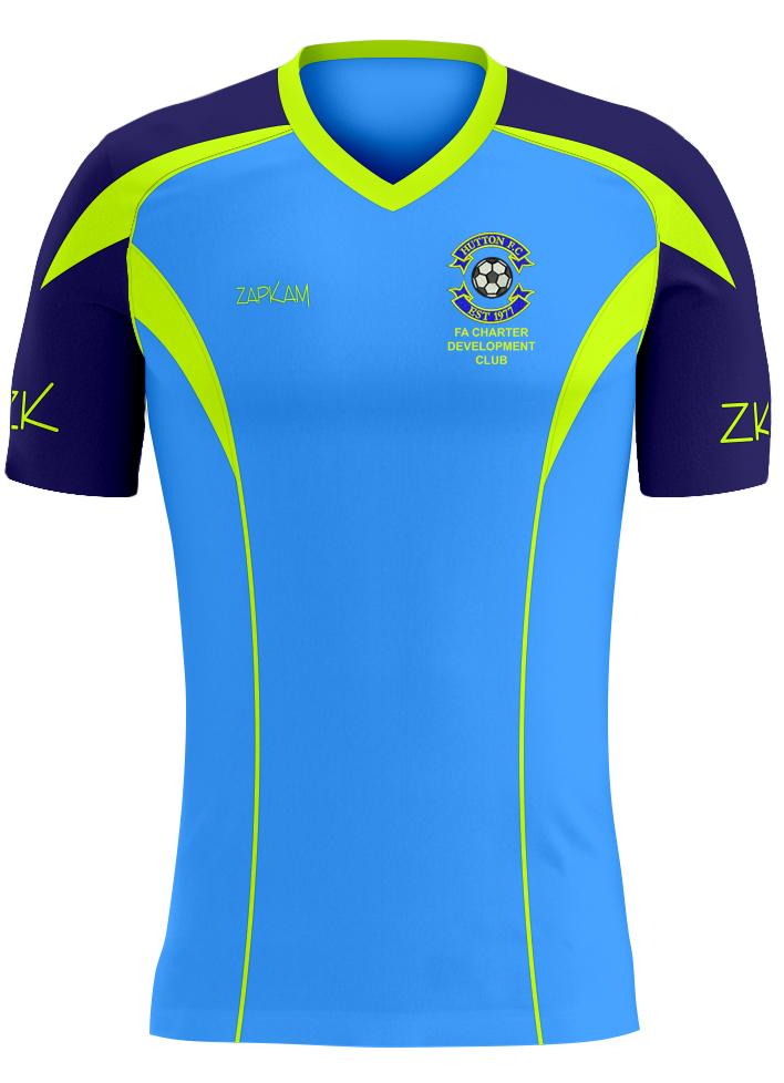 b57d717d8 Hutton FC Training Shirt (Cyan Blue Style 23)