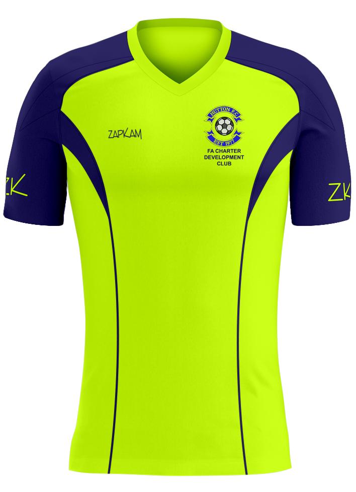 fec7ea07e Hutton FC Training Shirt (Flourescent Yellow Style 23)