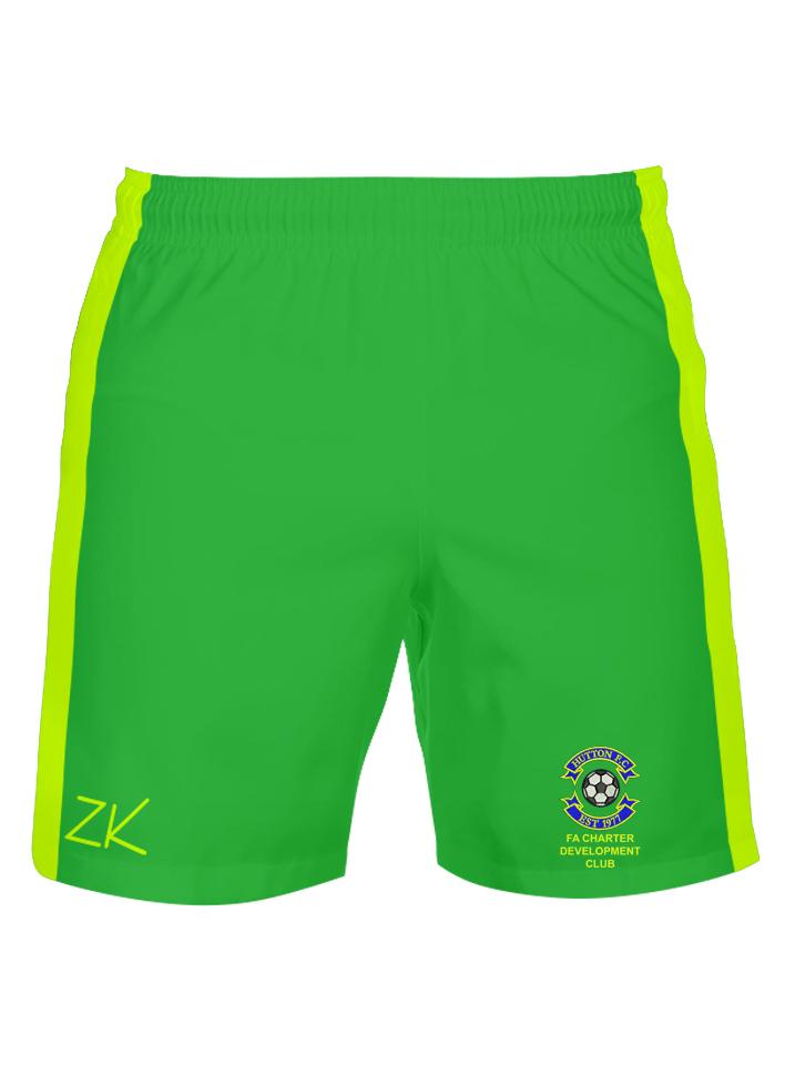 9a86d08be Hutton FC Foam Padded Green Goalkeeper Shorts